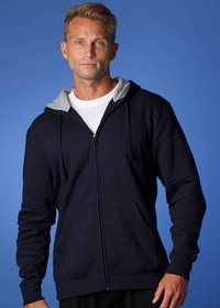 'Aussiepacific' Mens Kozi Zip Thru Kanga Pocket Hoodie