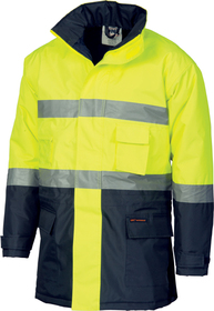 'DNC' HiVis Two Tone Parka with Generic Reflective Tape