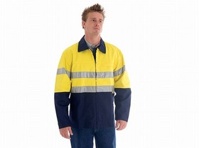 'DNC' HVis Two Tone Protector Drill Jacket with 3M Tape