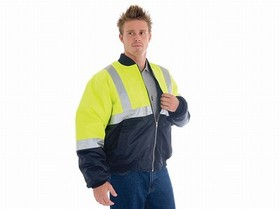 'DNC' HiVis Two Tone Flying Jacket with 3M Reflective Tape