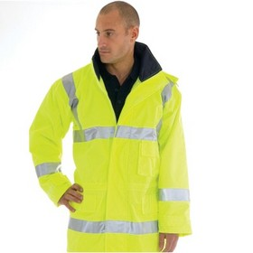 'DNC' HiVis Breathable Rain Jacket with 3M Reflective Tape