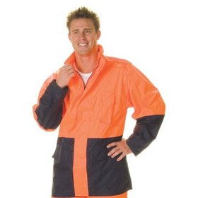 'DNC' HiVis Two Tone Lightweight Rain Jacket