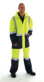 'DNC' HiVis Two Tone Lightweight Rain Jacket with 3M Reflective Tape