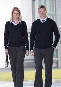 'Gear for Life' Mens Merino Detailed Vee Pullover
