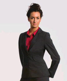 ** CLEARANCE ITEM ** - 'Totally Corporate'  Ladies Curved Jacket