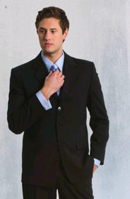** CLEARANCE ITEM ** - 'Totally Corporate' Mens Polyester Wool Lycra Jacket