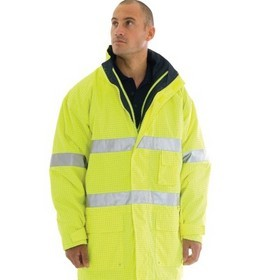 'DNC' HiVis Breathable Anti-Static Jacket 3M Reflective Tape