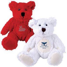 'Logo-Line' Zoe (Red) Snowy (White) Plush Teddy Bear
