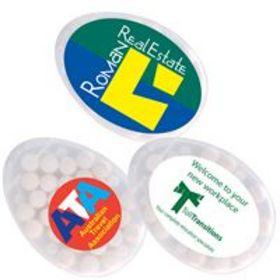 'Logo-Line' Egg Shape Sugar Free Mint Cards