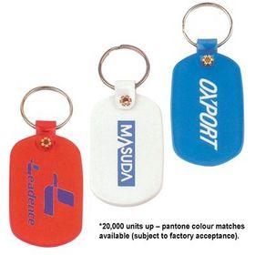 'Logo-Line' Oval Soft PVC Keytag
