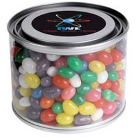 'Logo-Line' Assorted Colour Mini Jelly Beans in 500ml Drum
