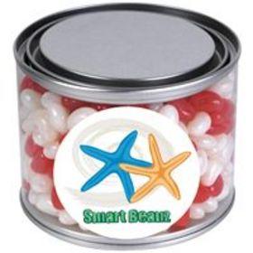 'Logo-Line' Corporate Colour Mini Jelly Beans in 500ml Drum