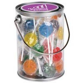 'Logo-Line' Assorted Colour Lollipops in 1 Litre Drum