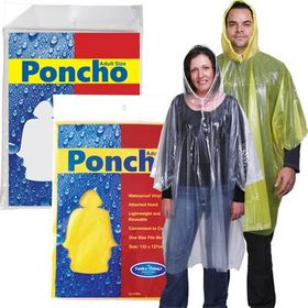 'Logo-Line' Reusable Poncho In Poly Bag