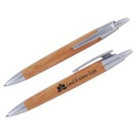 'Logo-Line' Bamboo Ballpoint Pen