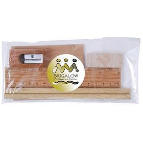 'Logo-Line' Bamboo Stationery Set in Cello Bag