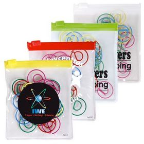 'Logo-Line' at Shape Paperclips In PVC Zipper Pouch