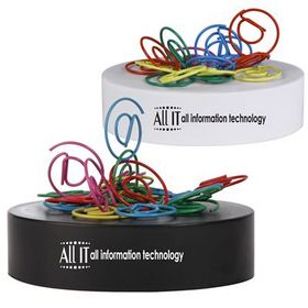 'Logo-Line' at Shaped Paperclips On Paperweight Magnetic Base