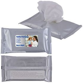 'Logo-Line' Anti Bacterial Wipes in Pouch x 10