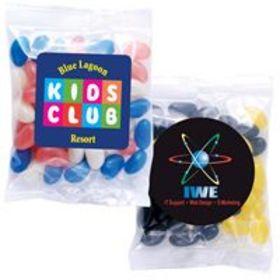 'Logo-Line' Mini Corporate Colour Jelly Beans in 60 Gram Cello Bags