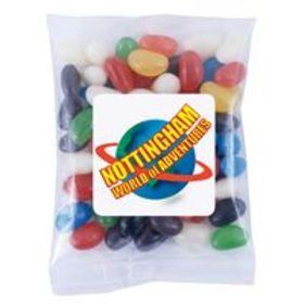 'Logo-Line' Assorted Colour Mini Jelly Beans in 60 Gram Cello Bag