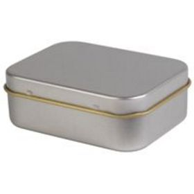 'Logo-Line' Silver Rectangular Tin