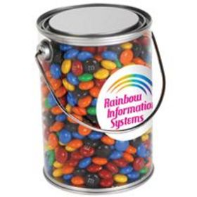 'Logo-Line' Assorted Colour Milk Chocolate M and M's in 1 Litre Drum