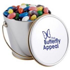 'Logo-Line' Assorted Colour Maxi Jelly Beans in Tin Buckets