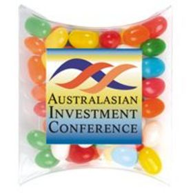 'Logo-Line' Assorted Colour Mini Jelly Beans in Pillow Packs