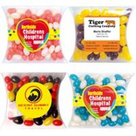 'Logo-Line' Corporate Colour Mini Jelly Beans in Pillow Packs