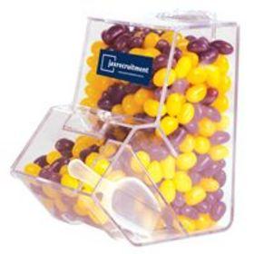 'Logo-Line' Corporate Colour Mini Jelly Beans in Dispenser