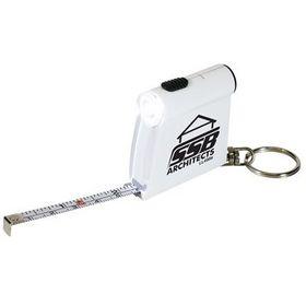 'Logo-Line' Tape Measure Flashlight Key Tag