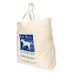'Logo-Line' Supa Shopper Short Handle Calico Bag