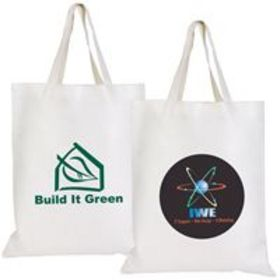 'Logo-Line' Short Handle Bamboo Tote Bag