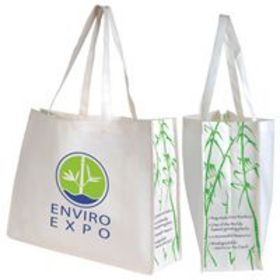'Logo-Line' Giant Bamboo Carry Bag with Double Handles