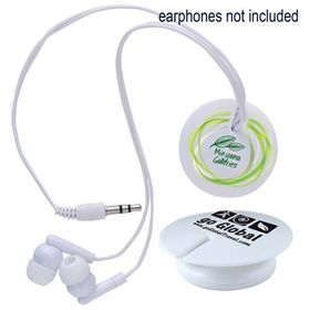 'Logo-Line' Magnetic Clip Earphone Cord Retainer