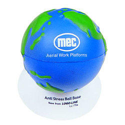 'Logo-Line' Anti Stress 2 Colour World Globe