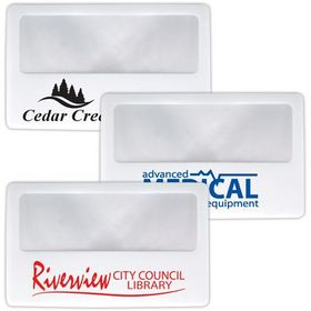 'Logo-Line' Clear Credit Card Size Magnifier