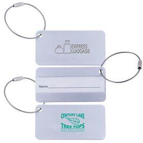 'Logo-Line' Aluminium Luggage Tag