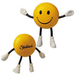 'Logo-Line' Smile Guy with Bendy Arms and Legs Stress Reliever