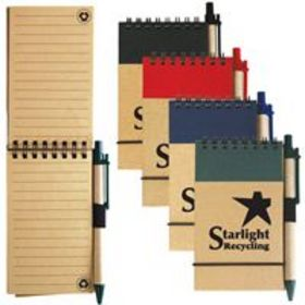 'Logo-Line' Tradie Cardboard Notebook with Pen