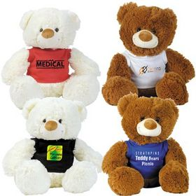 'Logo-Line' Coco (Brown) and Coconut (White) Plush Teddy Bear