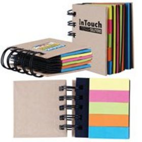 'Logo-Line' Spiral Notebook with Noteflags