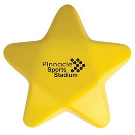 'Logo-Line' Yellow Star Stress Reliever