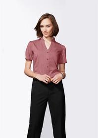 'Biz Collection' Ladies Stand Collar Shirt