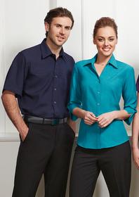 'Biz Collection' Mens Plain Oasis Short Sleeve Shirt