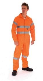 'DNC' Cotton Drill Coverall with 3M Reflective Tape