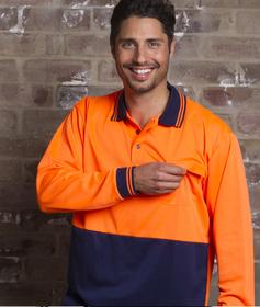 'Aussie Kings' Hi-Vis Optimus Long Sleeve Polo