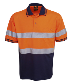 'Aussie Kings' Hi-Vis Optimus Short Sleeve Polo with Reflective Tape