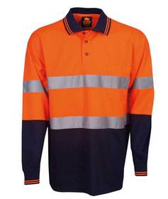 'Aussie Kings' Hi-Vis Optimus Long Sleeve Polo with Reflective Tape